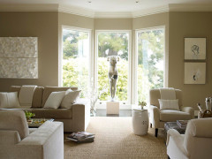 Beige and White Living Room