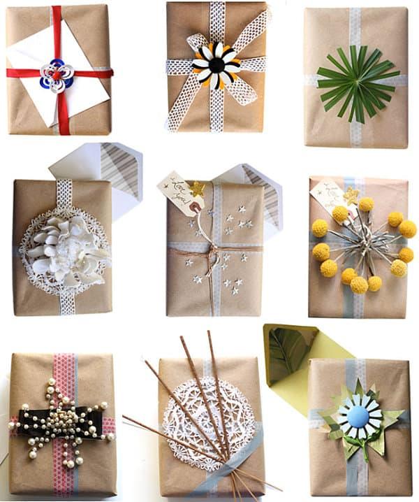 Creative gift wrap ideas Stylish Holiday Gift Wrap Ideas