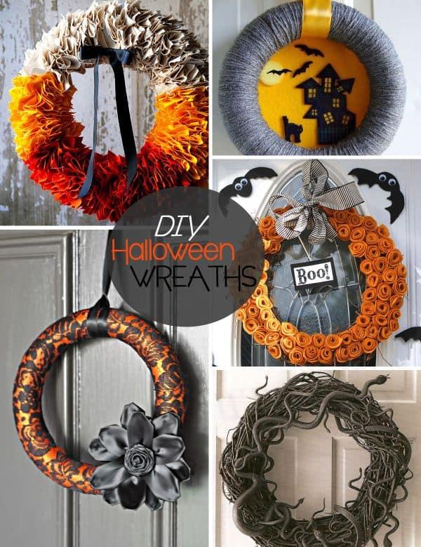 DIY Halloween Wreaths 20 DIY Halloween Wreath Ideas