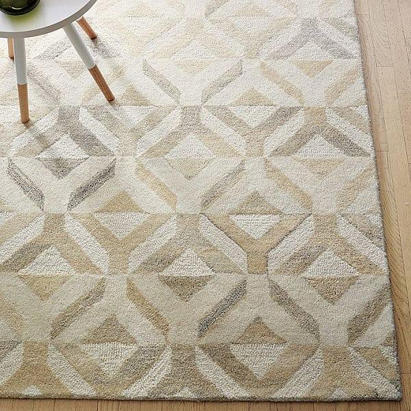 Geometric wool rug