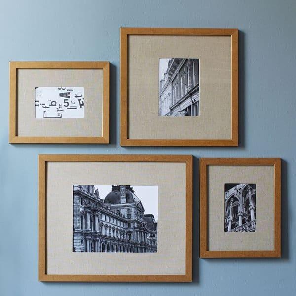 Gold gallery frames