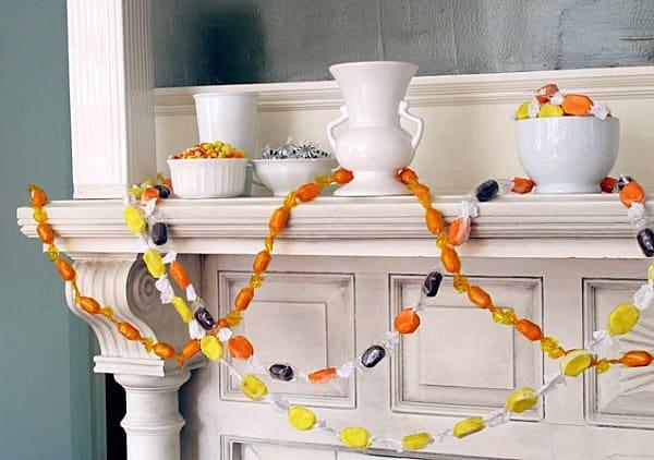 Halloween candy garland