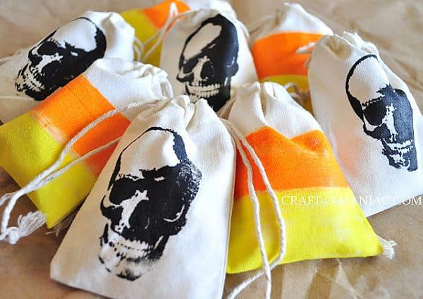Halloween treat bag DIY project