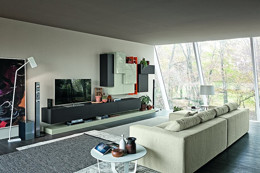 Modular dwelling room fashions combine italian finesse with fashionable efficiency dream home - Dwelling room units for sale ...