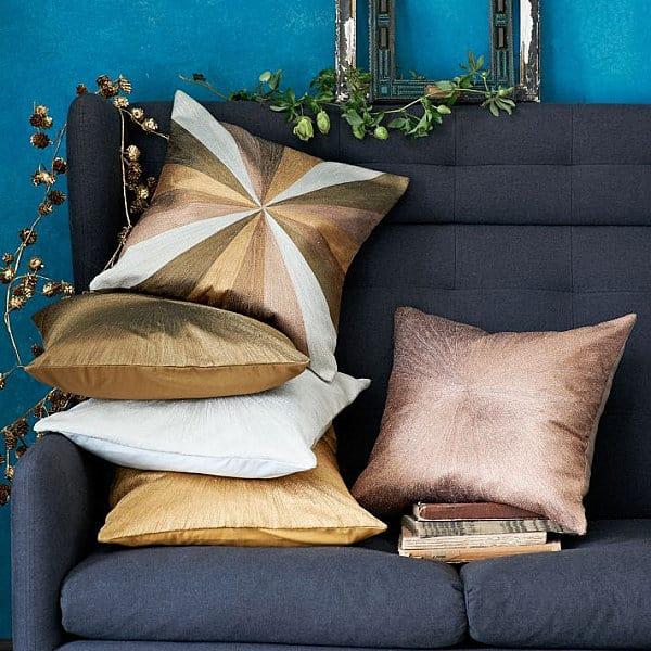 Metallic pillows from West Elm