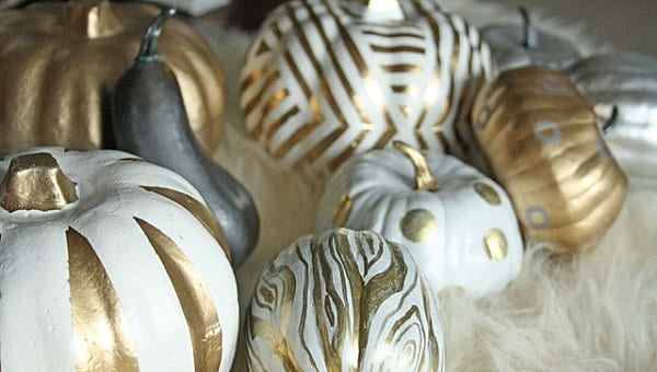 Metallic pumpkins from Just the Bees Knees