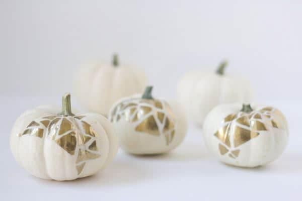 No-carve gold geo pumpkin project