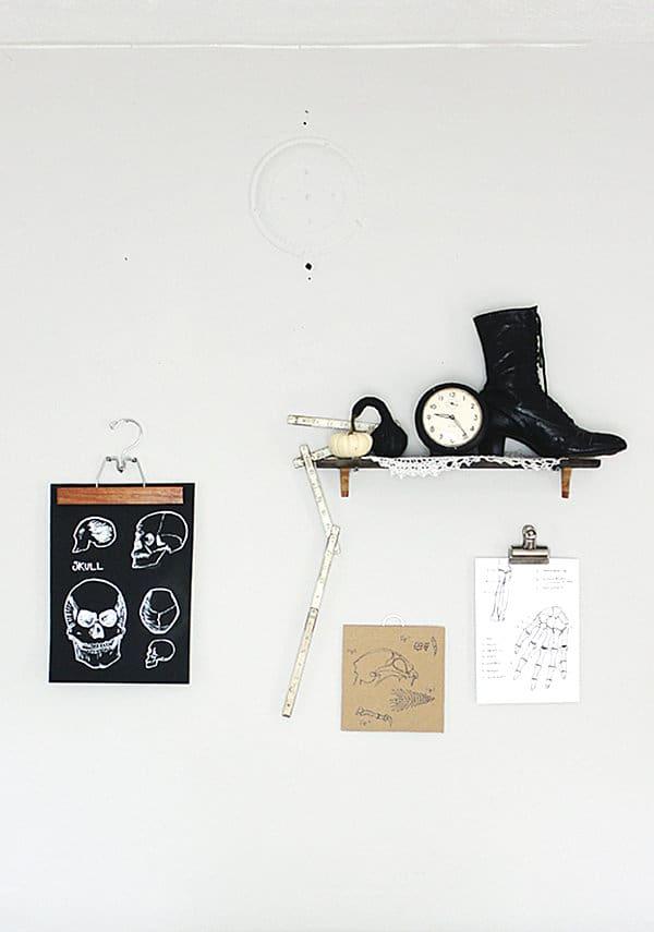 Skeleton wall hangings