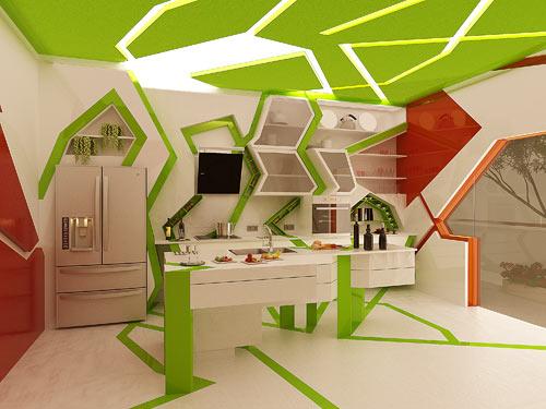 Cubism inside the Kitchen by Gemelli Design Studio