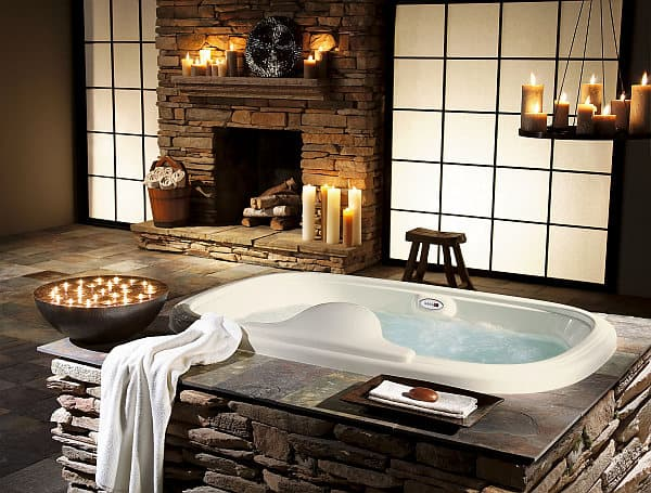 luxury bathroom design with stone and candlesticks EnThroned: Future Four  ward Luxury Items For Your