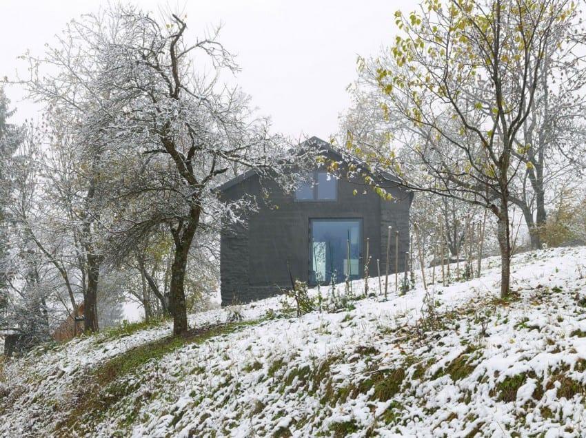 project Savioz House 4 Barn Converted into Minimalist Holiday House in Ayent, Switzerland