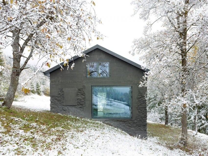 project Savioz House 5 Barn Converted into Minimalist Holiday House in Ayent, Switzerland