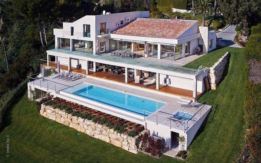 architecture project Cannes estate Massive Contemporary 6 Bedroom Estate in Cannes: Villa Chamade
