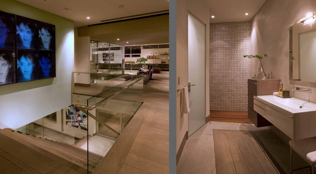 Bathroom upstairs DJ Aviciis Astounding $15.5 Million Property in Hollywood Hills