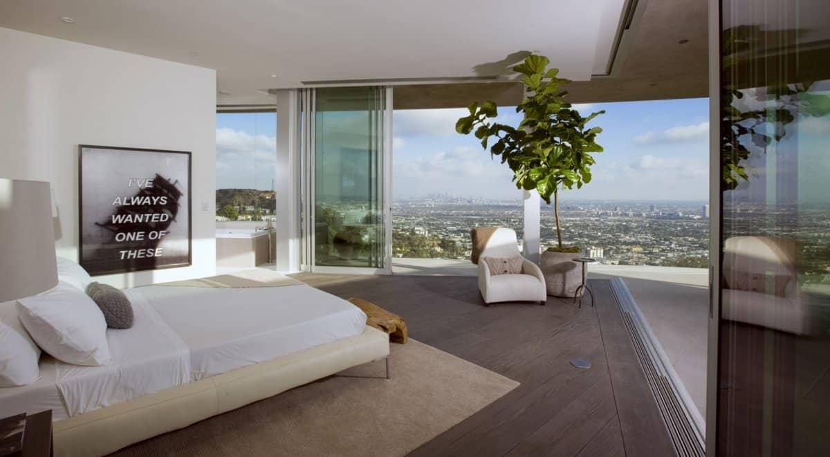 Bedroom view  DJ Aviciis Astounding $15.5 Million Property in Hollywood Hills