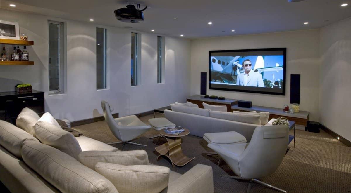 Cinema room DJ Aviciis Astounding $15.5 Million Property in Hollywood Hills