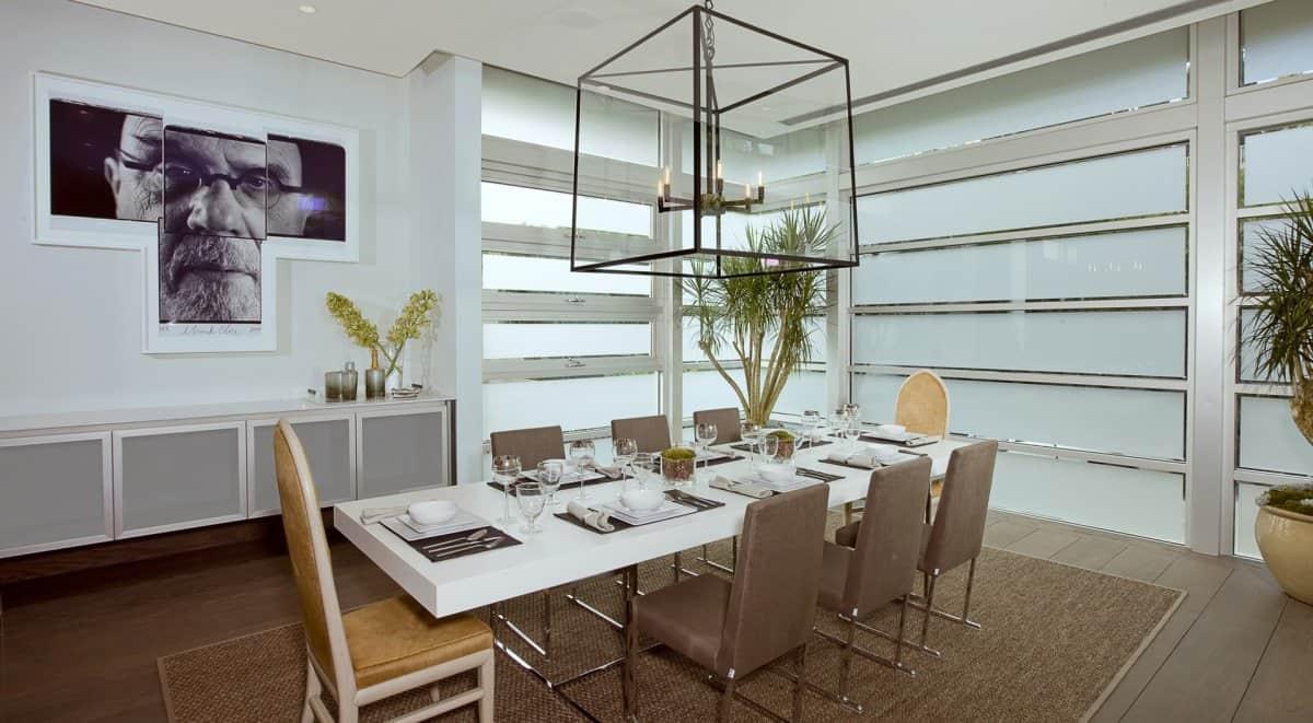Modern dinning area DJ Aviciis Astounding $15.5 Million Property in Hollywood Hills